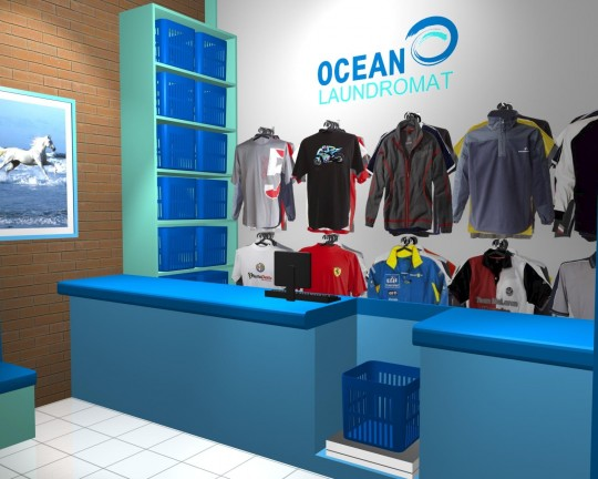 Ocean Laundromat 3D Initial Design Concept Visuals